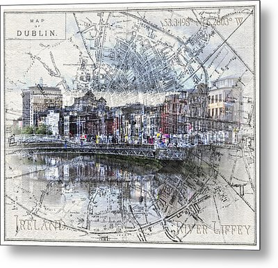 River Liffey Dublin Metal Print