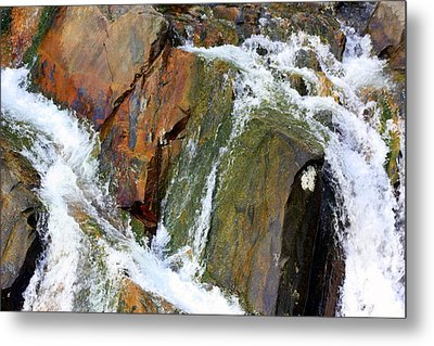River Power Dashed Upon The Rocks Metal Print