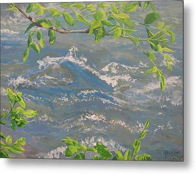 River Spring Metal Print by Karen Ilari