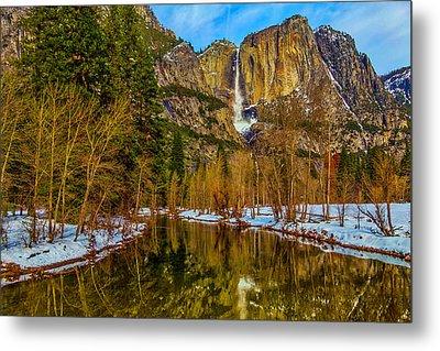 River View Yosemite Falls Metal Print