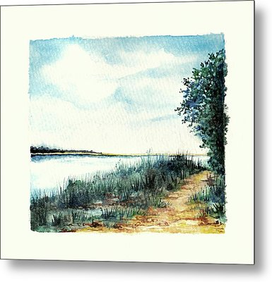 River Walk Metal Print
