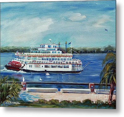 Riverboat Savannah Metal Print