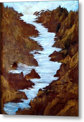 Metal Print featuring the painting Rivers End by Sherri  Of Palm Springs