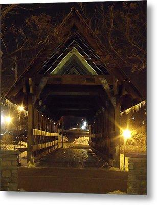 Riverwalk Bridge I Metal Print by Anna Villarreal Garbis
