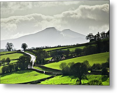 Road To Brecon Beacons Metal Print by Ginny Battson