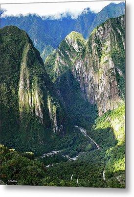 Road To Machu Picchu  Metal Print by Allen Sheffield
