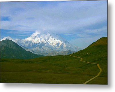 Metal Print featuring the photograph Road To Mt Mckinley by Jack G  Brauer