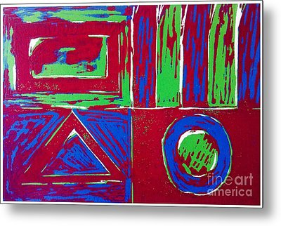 Roadside And Road Signs Abstract Metal Print