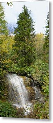 Roadside Waterfall In North Carolina Metal Print