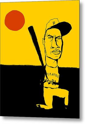 Roberto Clemente Pittsburgh Pirates Metal Print by Jay Perkins