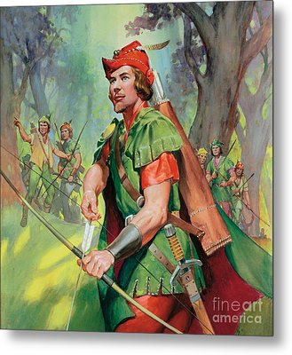 Robin Hood Metal Print by James Edwin McConnell