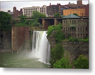 Metal Print featuring the photograph Rochester, New York - High Falls 2 by Frank Romeo