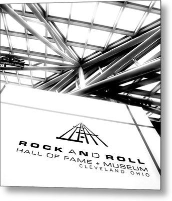 Rock And Roll Hall Of Fame Metal Print by Kenneth Krolikowski