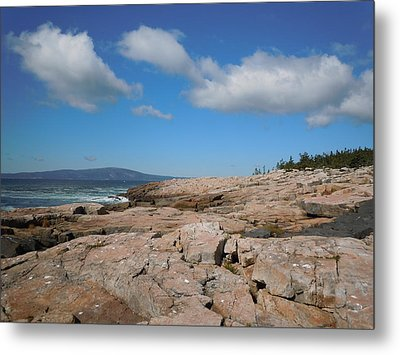 Rock Flow At Schoodic Point Metal Print