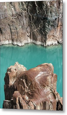 Metal Print featuring the photograph Rock Formation Of Zanskar, Ladakh, 2009 by Hitendra SINKAR