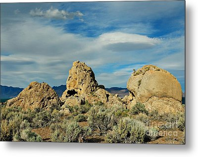 Metal Print featuring the photograph Rock Formations At Pyramid Lake by Benanne Stiens