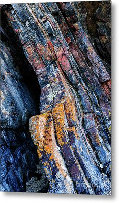 Metal Print featuring the photograph Rock Pattern Sc01 by Werner Padarin