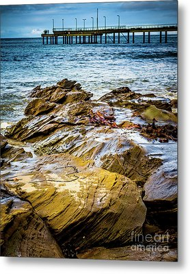 Metal Print featuring the photograph Rock Pier by Perry Webster