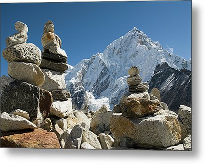 Rock Piles In The Himalayas Metal Print by Shanna Baker