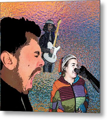 Rock Star Couple Metal Print by Penfield Hondros