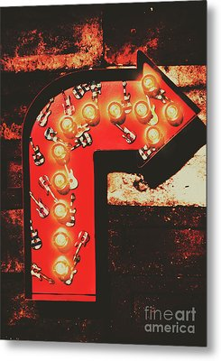 Rock Through This Way Metal Print