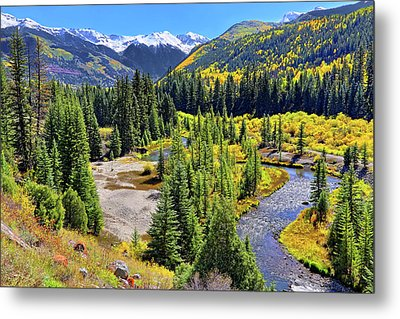 Metal Print featuring the photograph Rockies And Aspens - Colorful Colorado - Telluride by Jason Politte