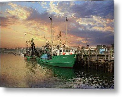 Rockland Fishing Pier Metal Print by Lori Deiter