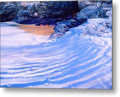 Metal Print featuring the photograph Rocks And Sand 2 by Lyle Crump