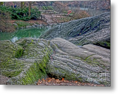 Rocks At Central Park Metal Print