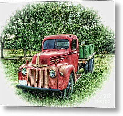 Rocks Old Truck Metal Print by Pamela Baker