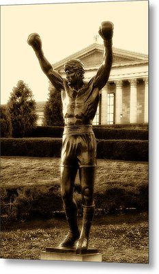 Rocky - Heart Of A Champion  Metal Print by Bill Cannon