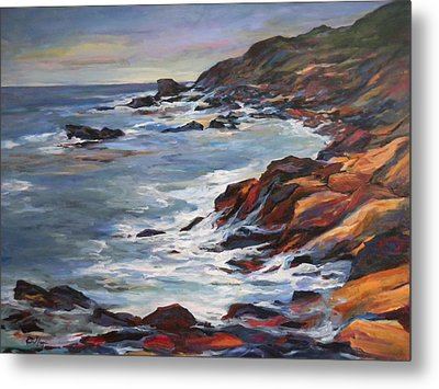 Rocky Coast Metal Print by Pati Maguire