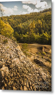 Rocky Hills And Forestry Views Metal Print by Jorgo Photography - Wall Art Gallery