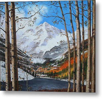Rocky Mountain High Metal Print by Mike Ivey