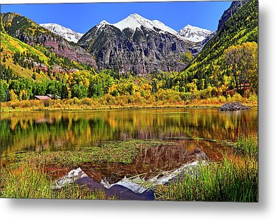 Metal Print featuring the photograph Rocky Mountain Reflections - Telluride - Colorado by Jason Politte