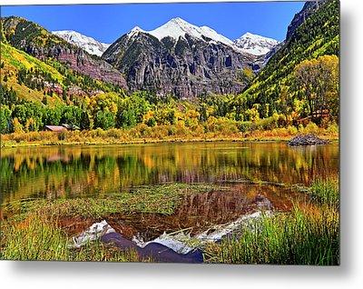 Rocky Mountain Reflections - Telluride - Colorado Metal Print by Jason Politte