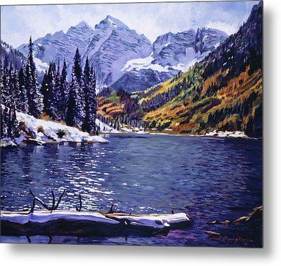 Rocky Mountain Serenity Metal Print by David Lloyd Glover