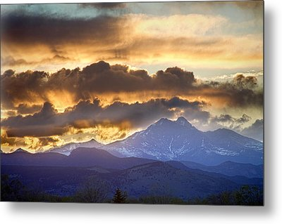 Rocky Mountain Springtime Sunset 3 Metal Print by James BO  Insogna