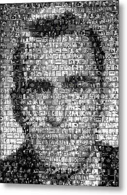 Rod Serling Twilight Zone Mosaic Metal Print