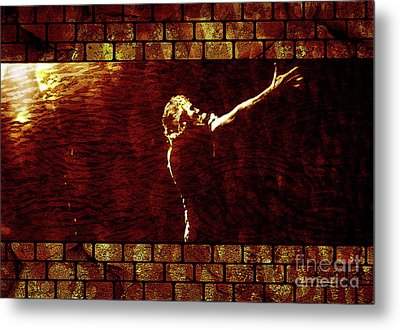 Rodger Waters The Wall Metal Print by Robert Ball