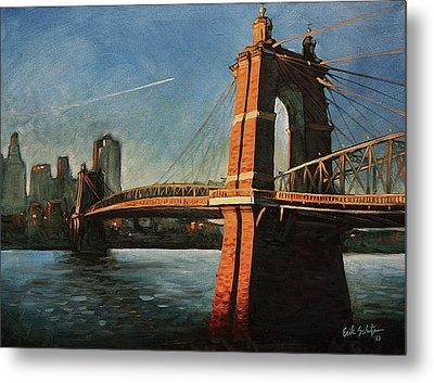 Roebling Bridge No.1 Metal Print