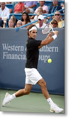 Roger Federer Metal Print by Keith Allen