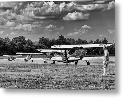 Metal Print featuring the photograph Roll Out  For Take Off by Alan Raasch