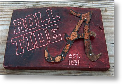 Roll Tide Alabama Metal Print