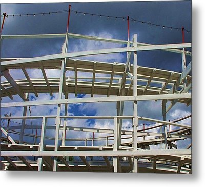 Roller Coaster 5 Metal Print by Anna Villarreal Garbis