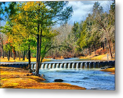 Rolling Down The River Metal Print by Rick Friedle