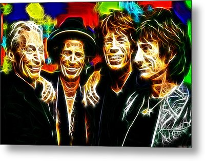 Rolling Stones Mystical Metal Print by Paul Van Scott