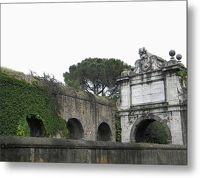Metal Print featuring the photograph Roman Aqueduct by Manuela Constantin