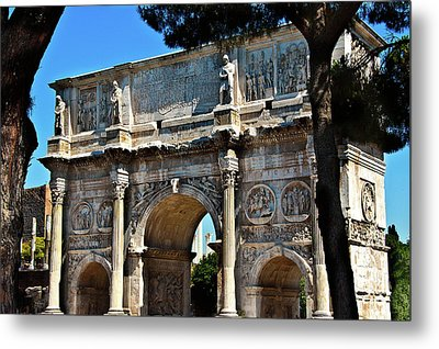 Metal Print featuring the photograph Roman Arch by Harry Spitz