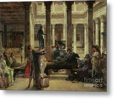 Roman Art Lover Metal Print by Sir Lawrence Alma-Tadema